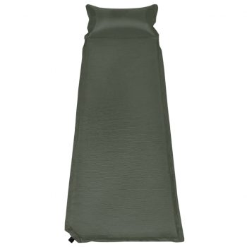 Napihljiva vzmetnica z blazino 66x200 cm temno zelena