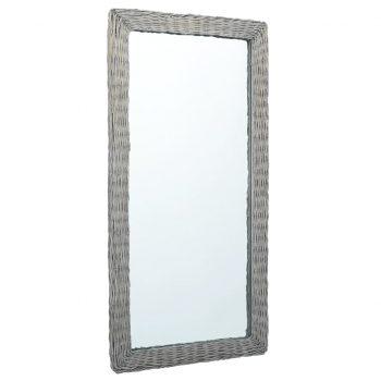 Ogledalo 120x60 cm s pletenim okvirjem