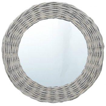 Ogledalo 60 cm s pletenim okvirjem