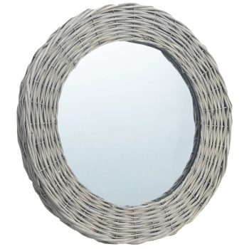 Ogledalo 80 cm s pletenim okvirjem