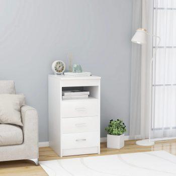 Omarica s predali bela 40x50x76 cm iverna plošča