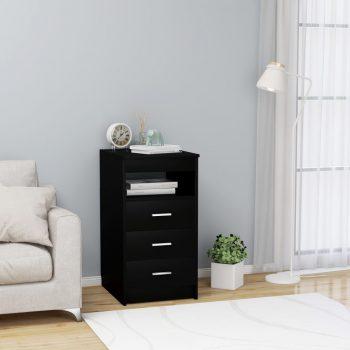 Omarica s predali črna 40x50x76 cm iverna plošča