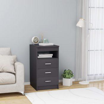 Omarica s predali siva 40x50x76 cm iverna plošča