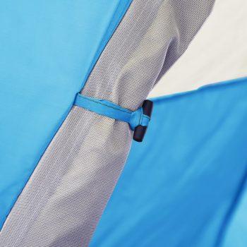 Pop up šotor za kampiranje za 2-3 osebe 240x210x140 cm moder