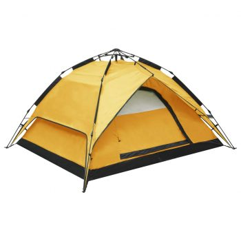 Pop up šotor za kampiranje za 2-3 osebe 240x210x140 cm rumen