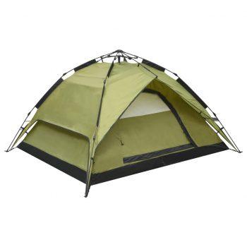 Pop up šotor za kampiranje za 2-3 osebe 240x210x140 cm zelen