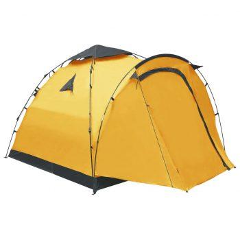Pop up šotor za kampiranje za 3 osebe rumen