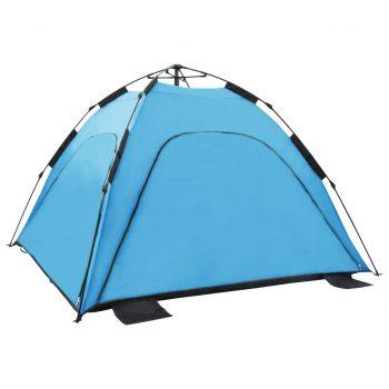 Pop up šotor za plažo 220x220x160 cm moder