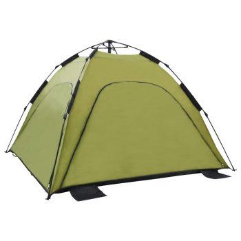 Pop up šotor za plažo 220x220x160 cm zelen