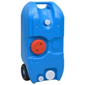 Posoda za vodo na kolesih za kampiranje 40 L modra