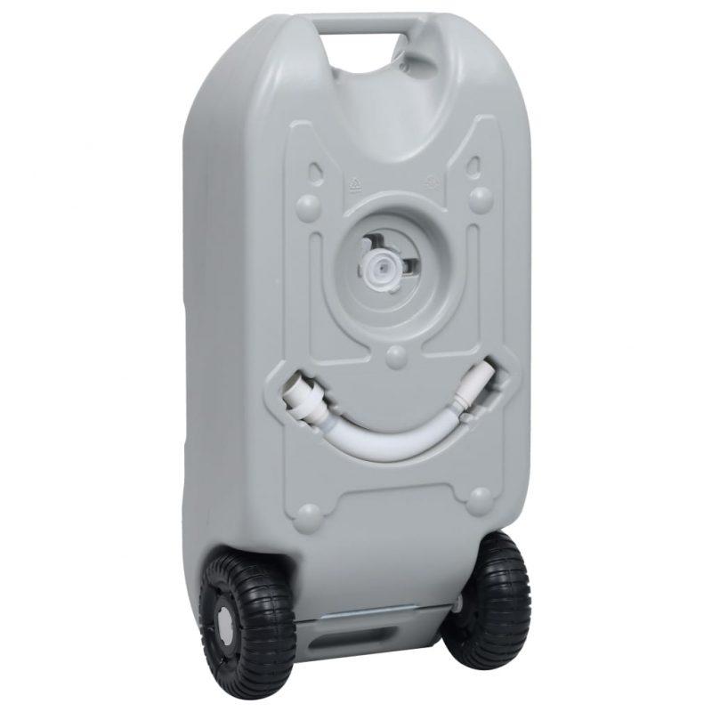 Posoda za vodo na kolesih za kampiranje 40 L siva
