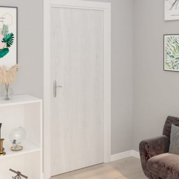 Samolepilne folije za vrata 2 kosa beli les 210x90 cm PVC