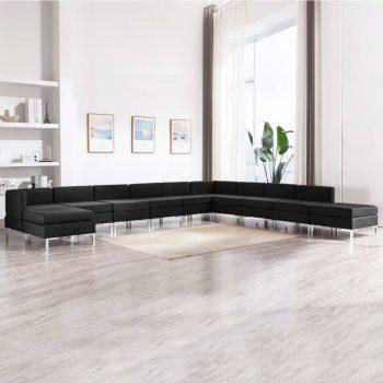 Sedežna garnitura 11-delna blago črna