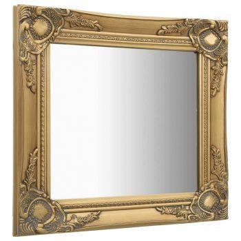 Stensko ogledalo v baročnem stilu 50x50 cm zlato