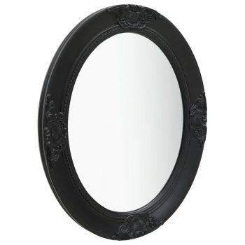 Stensko ogledalo v baročnem stilu 50x60 cm črno
