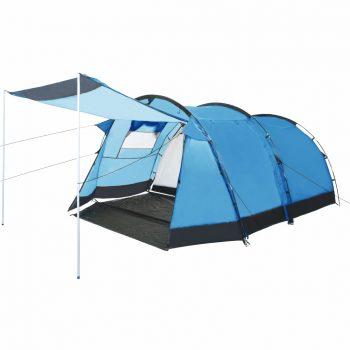 Tunelast šotor za kampiranje za 4 osebe moder