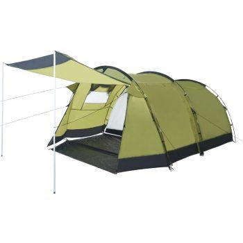 Tunelast šotor za kampiranje za 4 osebe zelen