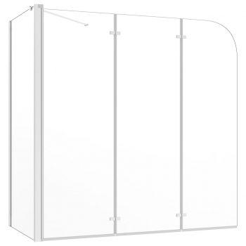 Tuš stena za kopalno kad 130x130 cm kaljeno steklo prozorna