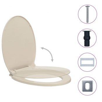 WC deska s počasnim zapiranjem hitro nameščanje marelica ovalna