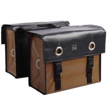 Willex Kolesarska torba 52 L mat črna in mat rjava