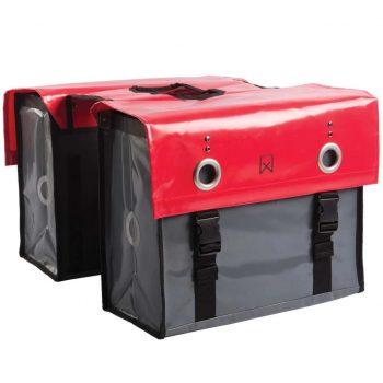 Willex Kolesarska torba 52 L rdeča in temno siva