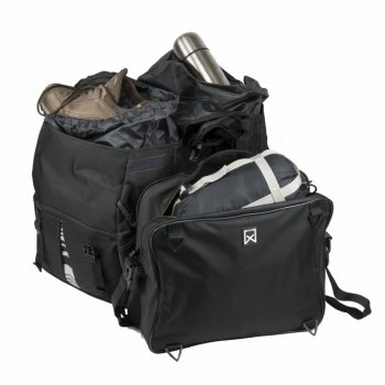 Willex Kolesarski kovčki z vrhnjo torbo XL 1200 65 L črne 13411