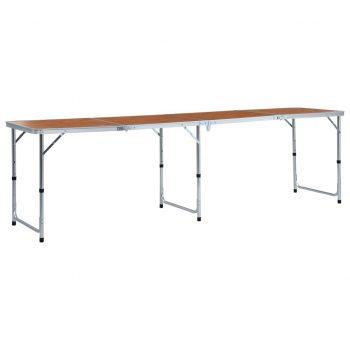 Zložljiva miza za kampiranje iz aluminija 240x60 cm