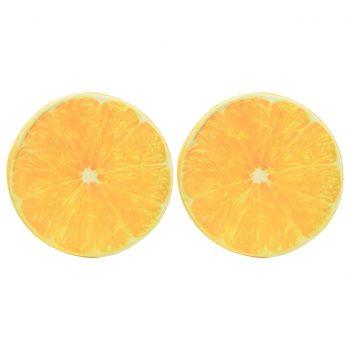 Blazine 2 kosa s potiskom pomaranče
