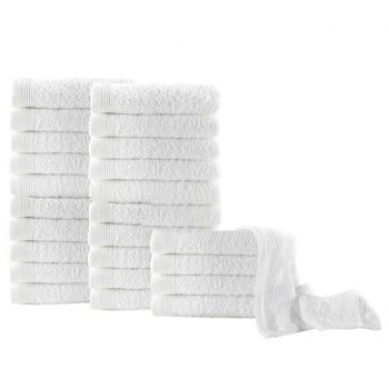 Brisače za goste 25 kosov bombaž 350 gsm 30x50 cm bele