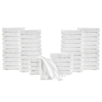 Brisače za goste 50 kosov bombaž 350 gsm 30x50 cm bele