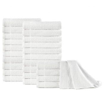 Brisače za roke 25 kosov bombaž 350 gsm 50x100 cm bele