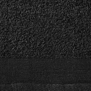 Brisače za savno 2 kosa bombaž 450 gsm 80x200 cm črne