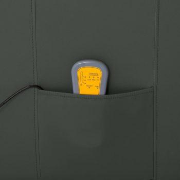 Električni naslanjač sivo umetno usnje
