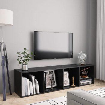 Knjižna / TV omara črna 143x30x36 cm