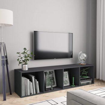 Knjižna / TV omara siva 143x30x36 cm