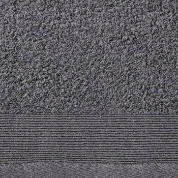 Komplet brisač iz bombaža 12-delni 450 gsm antracitne barve