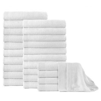 Kopalne brisače 25 kosov bombaž 350 gsm 100x150 cm bele