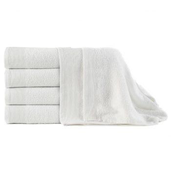 Kopalne brisače 5 kosov bombaž 450 gsm 100x150 cm bele