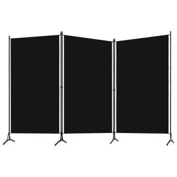 Paravan 3-delni črn 260x180 cm