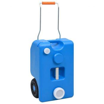 Posoda za vodo na kolesih za kampiranje 25 L modra