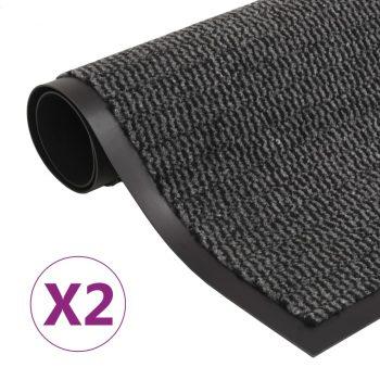 Protiprašni predpražniki 2 x pravokotni taftani 60x90 cm