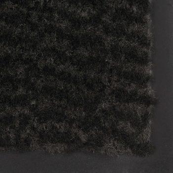 Protiprašni predpražniki 2 x pravokotni taftani 80x120 cm črni