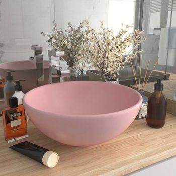 Razkošen umivalnik okrogel mat roza 32