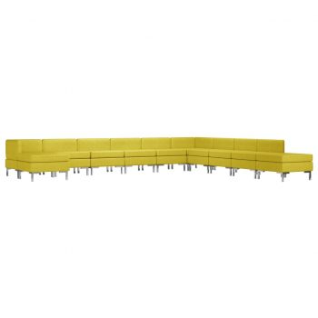 Sedežna garnitura 11-delna blago rumena