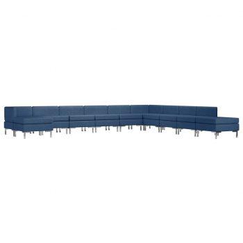 Sedežna garnitura 11-delna iz blaga modra