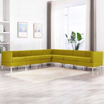 Sedežna garnitura 7-delna blago rumena