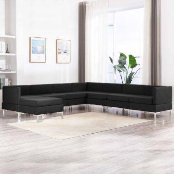 Sedežna garnitura 8-delna blago črna