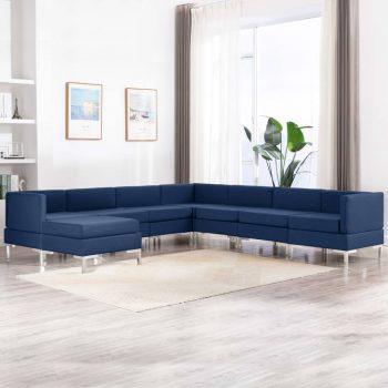 Sedežna garnitura 8-delna blago modra