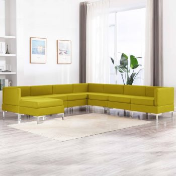 Sedežna garnitura 8-delna blago rumena