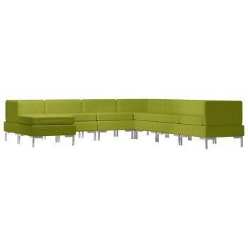 Sedežna garnitura 8-delna blago zelena